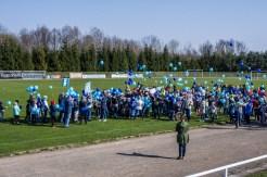 Niebieska Kalwaria - obchody Światowego Dnia Świadomości Autyzmu w Kalwarii - 2 kwietnia 2019 r. Kalwaria Zebrzydowska - fot. Andrzej Famielec IMGP5174