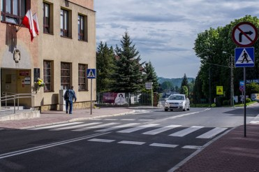 Przejście dla pieszych ul. Mickiewicza w Kalwarii Zebrzydowskiej