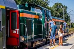 Wizyta pociągu retro w Kalwarii Zebrzydowskiej - 26 sierpnia 2019 r. - fot. Andrzej Famielec - Kalwaria 24 IMGP5142