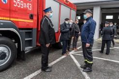 Przekazanie wozu bojowego OSP w Kalwarii Zebrzydowskiej - 3 listopada 2020 r.- fot. Andrzej Famielec - Kalwaria 24-09551