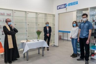Poświęcenie nowej apteki Hygiea w Kalwarii Zebrzydowskiej - 6 maja 2021 r. - fot. Andrzej Famielec - Kalwaria 24-03197