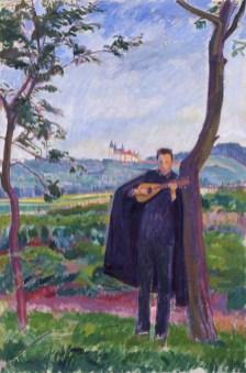 Kazio z mandoliną, ok. 1910