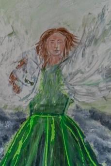 Zielony Anioł w Lanckoronie - Wystawa prac uczniów z -Werandy Anieli- podcas -Spotkania w Stodole--04383
