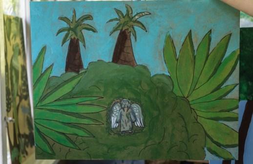Zielony Anioł w Lanckoronie - Wystawa prac uczniów z -Werandy Anieli- podcas -Spotkania w Stodole--04392