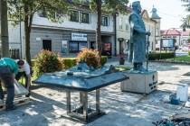 Montaż makiety przedstawiającej XVII wieczne dobra Zebrzydowski - 28 lipca 2021 r. - fot. Andrzej Famielec - Kalwaria 24-07487