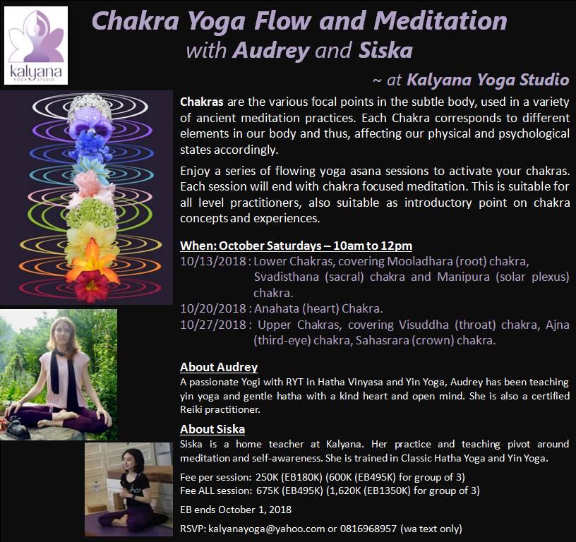 chakra yoga flow and meditation