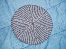 brioche stitch beret, I forget the pattern source (wool)