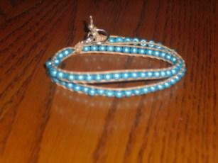 beaded leather wrap bracelet - some online tutorial