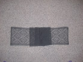 lace scarf - free pattern from To Knit is Diving (merino wool)