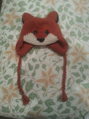 fox hat - adapted from Animal Hats (wool)