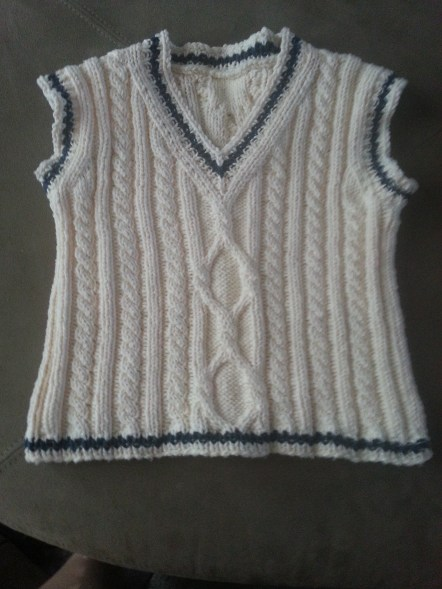 toddler vest - adapted from The Loops (cotton)