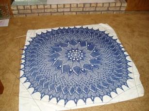 lace shawl - from KnitPicks (merino)