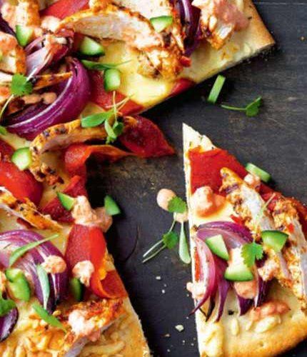 Peri-peri-barbecue-chicken-pizza