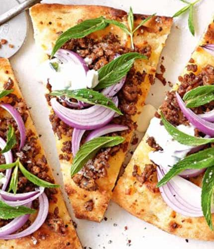 Spicy-lamb-pizza