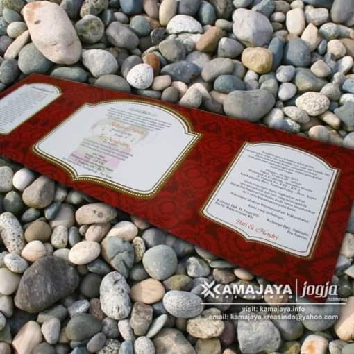 undangan pernikahan warna merah maron isi yati hendri