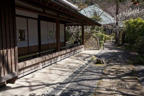 喜泉庵入口付近。