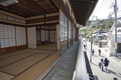 長谷寺の参道と對僊閣のお部屋。