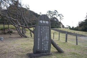 稲村ケ崎越えの石碑。