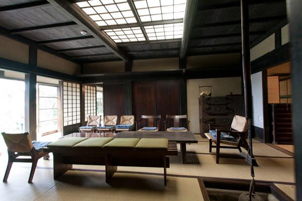 旧川喜多邸(別邸)内部。