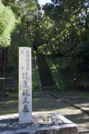 敷地には護良親王墓と書かれた碑と墓、階段しかありません。後は自然がそのまま残されています。
