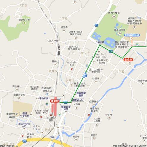王道金沢街道地図1