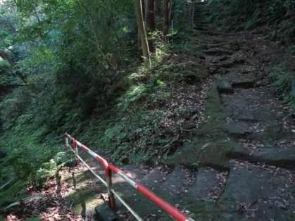 数分登ったら左に急カーブして、もうすぐ神武寺です。