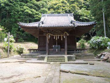 白山神社の本堂。