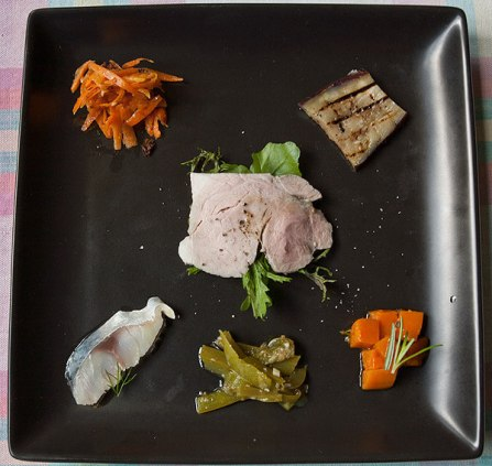 トラットリア・フォンテ、ランチの前菜。