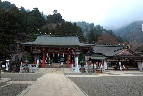 大山阿夫利神社の下社。約150年前、明治維新直後の神仏分離・廃仏毀釈まで、大山寺の本堂でした。【大山阿夫利神社】