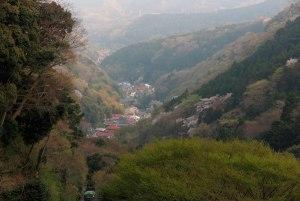 大山ケーブル駅からの景色。