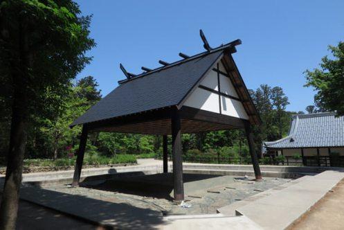 彌彦神社、相撲場。