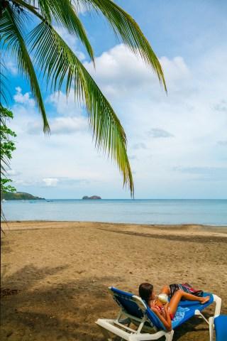 Hermosa beach. Hermosa bay. Guanacaste province. Costa Rica