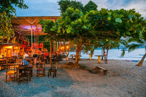 The Lazy Mon Bar. Beach. Puerto Viejo de Talamanca. Limon Province. Costa Rica