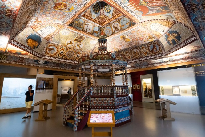 Polin. Reproducción de una sinagoga rural.