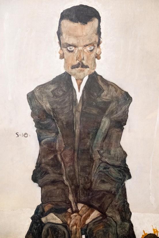 Retrato de Eduard Kosmack (Schiele).