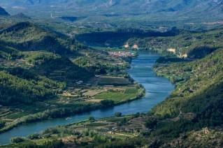 El río Ebro a la altura de Benifallet.