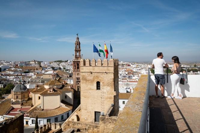 Carmona. Vista desde el alcázar de la Puerta de Sevilla.