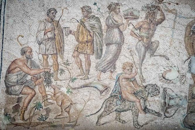 Museo Histórico Municipal de Écija. Mosaico de Dionisos.