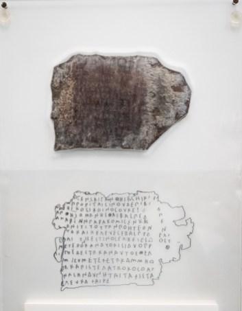 Carta griega sobre plomo.