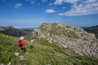 El puig del Marquès desde la sierra de Güena.