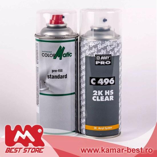 Set Spray retus DIY vopsea auto metalizata