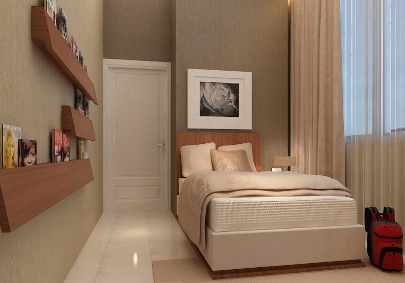 Desain Kamar Tidur Kecil Untuk Rumah Minimalis  Desain Kamar Tidur Minimalis Cantik
