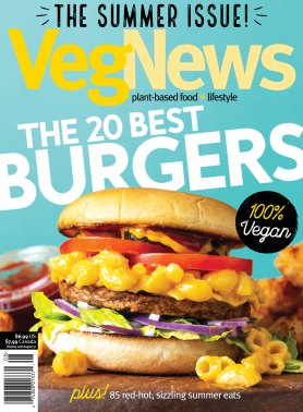 Image of VegNews Magazine cover