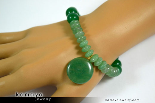 Green Aventurine Bracelet on Hand
