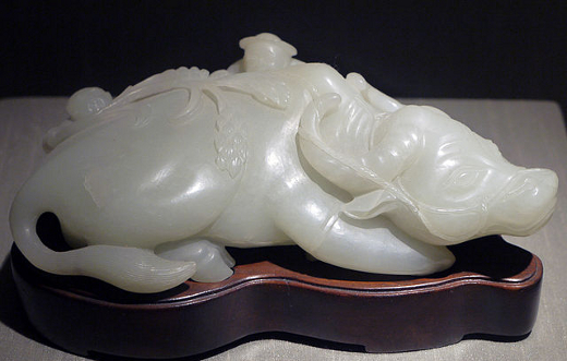 White Nephrite Sculpture