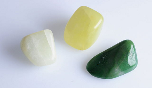 White Yellow Green Jade
