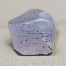 Chalcedony Stone with Incriptions