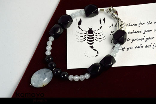 Scorpio Bracelet - Beryl Pendant