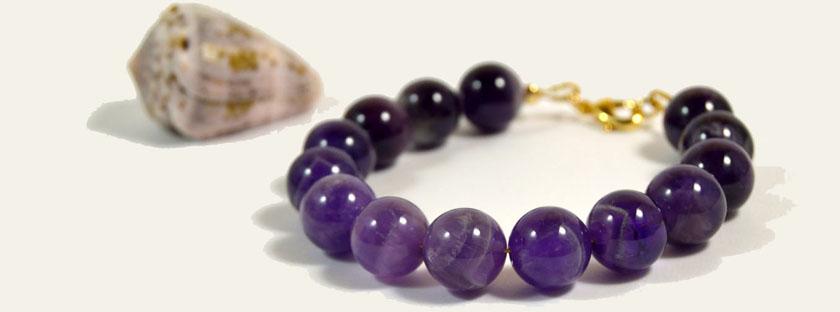 Amethyst Bracelet by Kamayo Jewelry