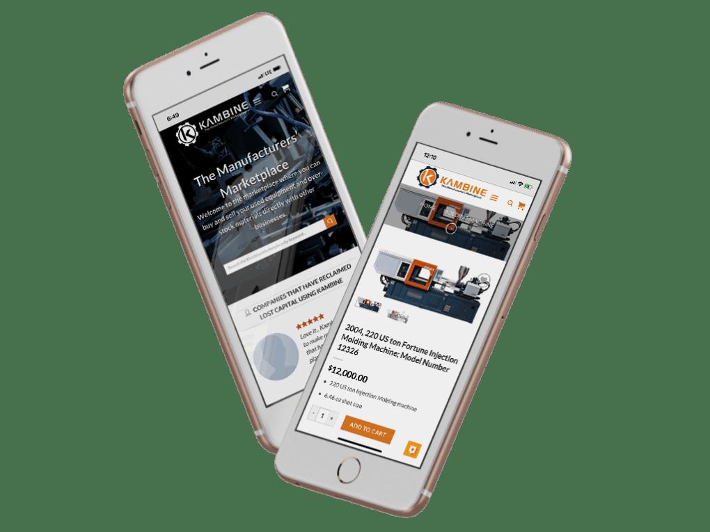 Kambine Mobile App Homescreens
